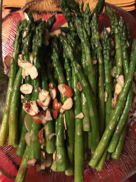 芦笋,美味,垂直画幅,美国,无人,杏仁,配菜,蔬菜,自制的,食品