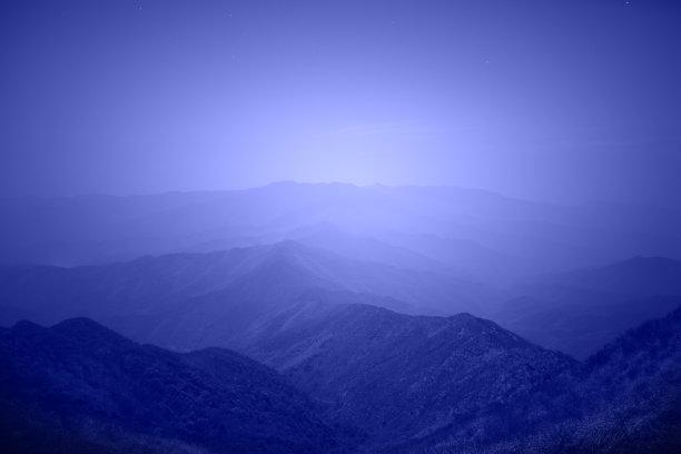 山,中国南部,都市风光,星系,高大的,星图,日落时分,星迹,星云,山脊