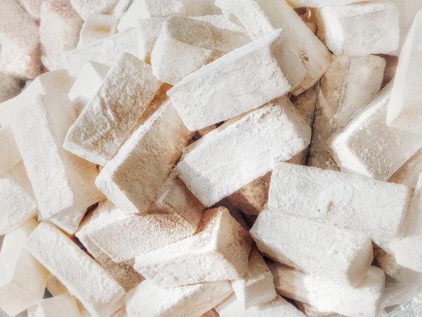 土耳其软糖,水平画幅,无人,组物体,糖粉,甜点心,糖,中东,开心果,糖果