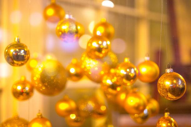 商店,圣诞装饰物,散焦,圣诞小彩灯,壶腹,零售展示,圣诞卡,就寝时间,水平画幅,夜晚