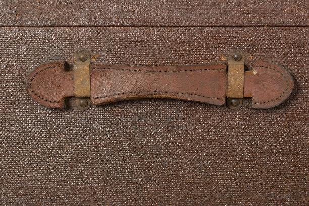 皮革,把手,褐色,古董,水平画幅,无人,手提箱,古典式,特写,公文包