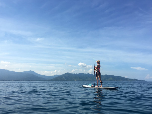 桨,旅行者,桨叶式冲浪板,仅成年人,举重训练,运动,海滩,健身房,身体护理和美容