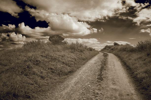 自然,丹麦币,天空,水平画幅,云,无人,野生动物保护,夏天,古坟,草