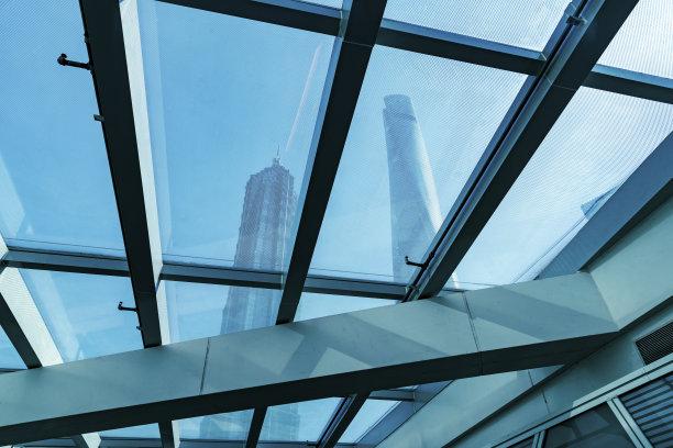 cbd,幕墙,上海中心大厦,金茂大厦,东方明珠塔,陆家嘴,浦东,万里无云,低视角,国际著名景点