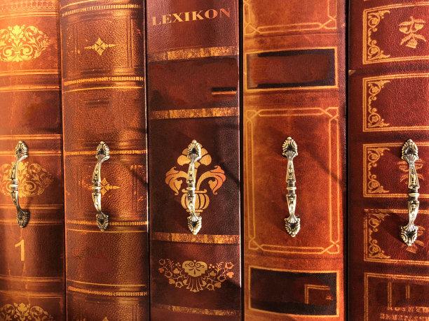 古典式,书,成一排,正面视角,留白,褐色,水平画幅,书店,无人,古老的