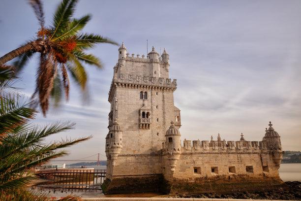 The Belém Tower at Lisbon, Portugal