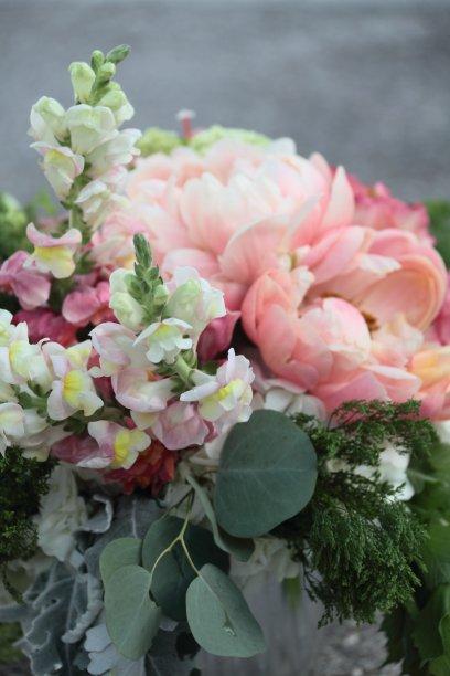 花束,垂直画幅,无人,情人节,银叶菊,周末活动,生日,亲昵,白色,牡丹