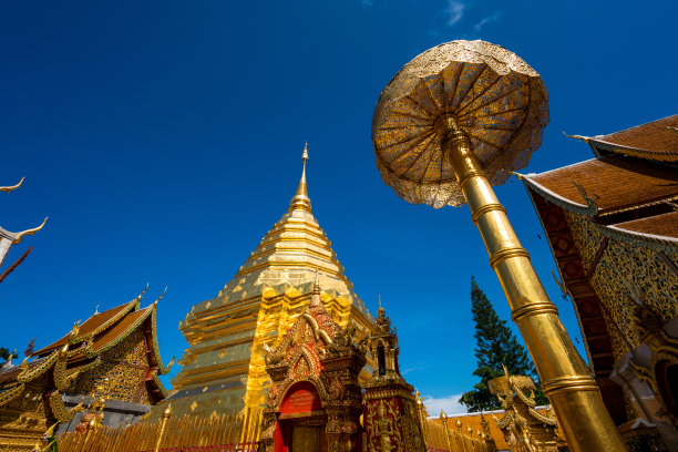 泰国,清迈省,素贴寺,清迈城,僧院,水平画幅,佛教,佛,无人,著名景点