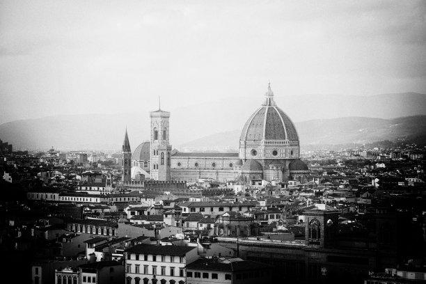 城市天际线,图像特效,佛罗伦萨画派,天空,佛罗伦萨,钟楼,过去,都市风景,国际著名景点,著名景点
