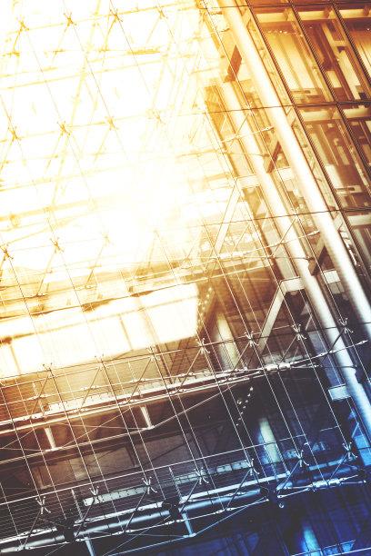 现代,建筑,玻璃,大特写,垂直画幅,未来,外立面,梁,无人,几何形状