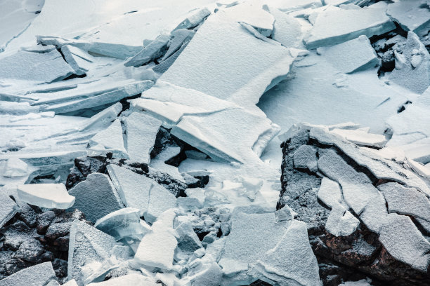 湖,冰,冻结的,破碎的,水,气候,水平画幅,雪,无人,尖利