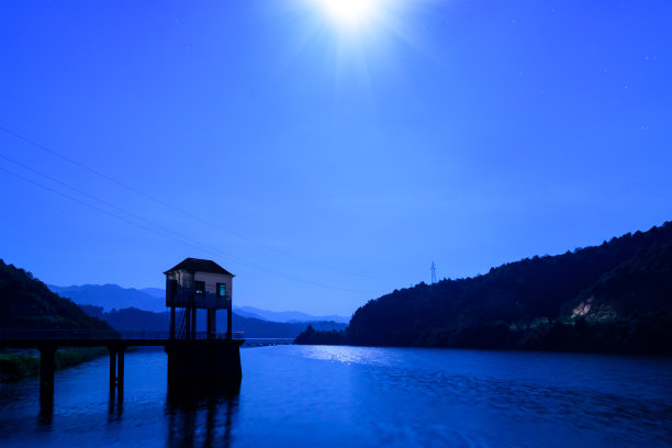 月亮,夏天,中国南部,星系,星图,星迹,空间和天文学,星际,天文学,输电塔