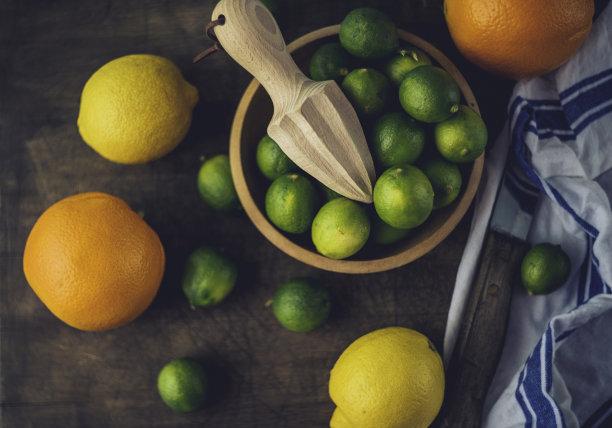 乡村风格,柑橘属,案板,留白,褐色,水平画幅,高视角,无人,生食,气候与心情