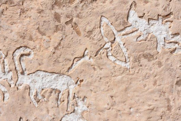 泥墙画,过去,埃及卢克索,内盖夫,象形文字,以色列,古代文明,古代,考古学,商务旅行