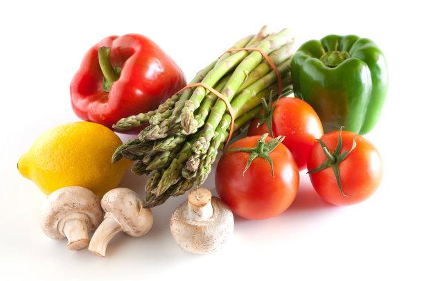 白色背景,清新,蔬菜,少量物体,水,留白,美国,水平画幅,灯笼椒,水果