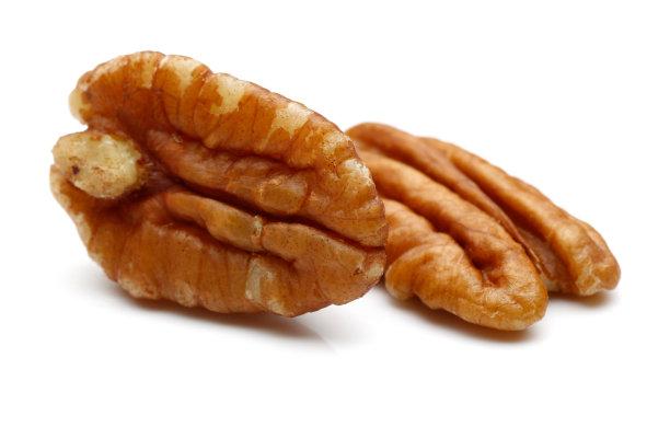 美洲山核桃,褐色,坚果,水平画幅,无人,生食,组物体,干的,特写,两个物体