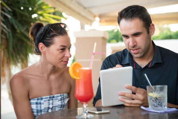 伴侣,平板电脑,商务休闲,半身像,休闲活动,东欧,经理,仅成年人,希腊,人的脸部