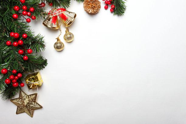 背景,新年,贺卡,新的,边框,圣诞卡,水平画幅,高视角,雪