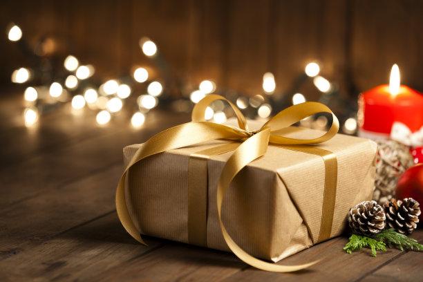 乡村风格,木制,包装纸,桌子,褐色,贺卡,圣诞装饰物,一个物体,厚木板