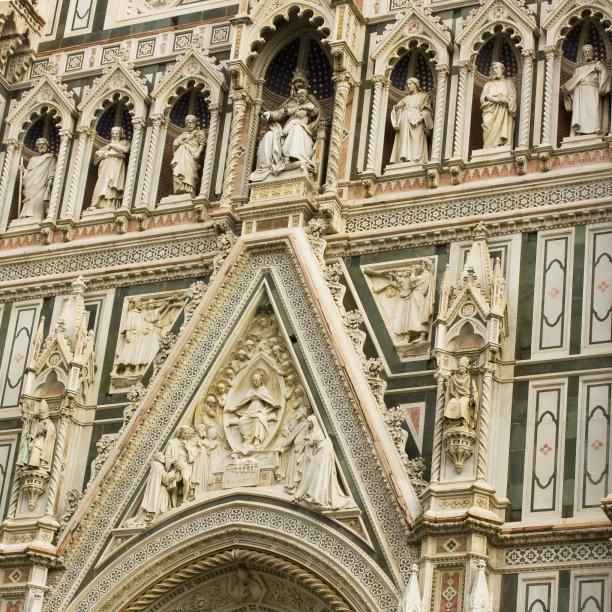 佛罗伦萨,天空,当地著名景点,明亮,都市风景,国际著名景点,长方形会堂,冬天