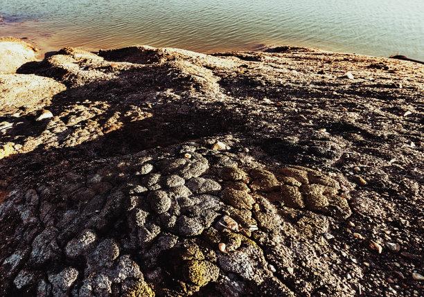 毛石,都市风景,水,未来,褐色,气候,水平画幅,无人,环境损害,偏远的
