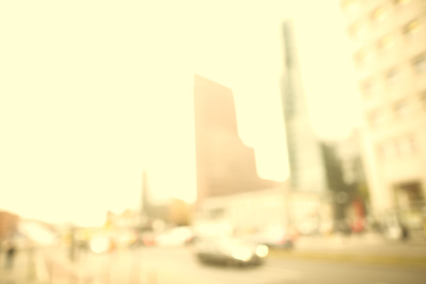 柏林,摩天大楼,天空,感光过度,早晨,光,波茨坦广场,现代,与众不同,商务