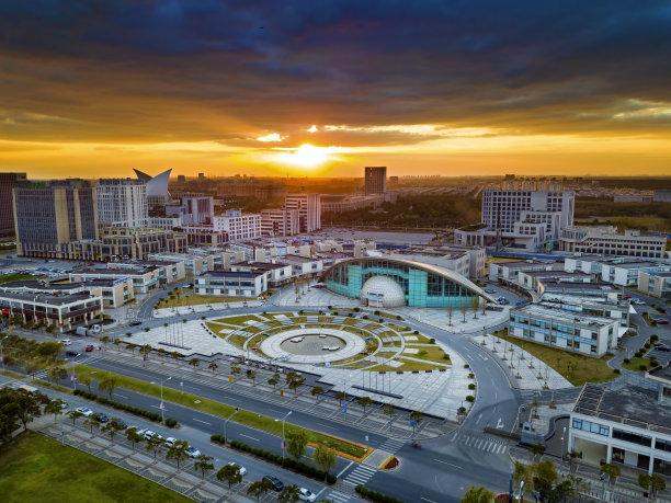 湖,现代,上海,居住区,公园,工业区,水平画幅,云,无人,城市扩张