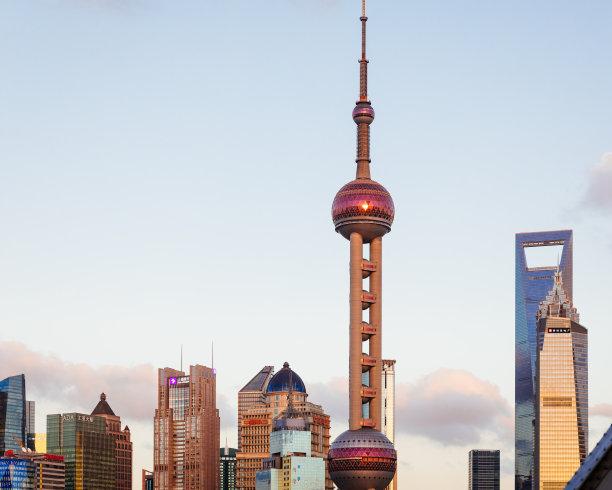 上海,自然美,天空,未来,水平画幅,高视角,云,无人,黄浦江,户外