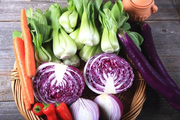 清新,蔬菜,水平画幅,高视角,素食,芜菁,芸苔,无人,生食