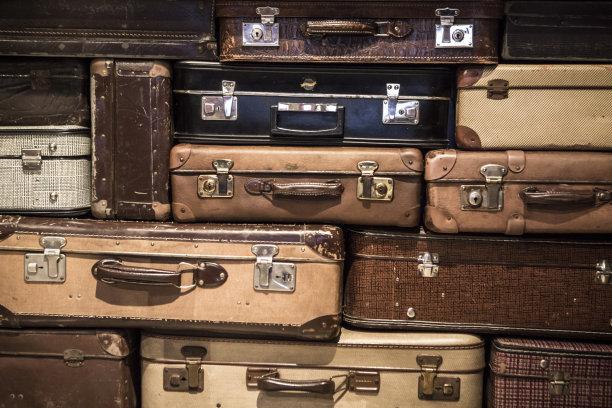 手提箱,40-80年代风格复兴,褐色,古董,水平画幅,器材箱,无人,古老的,皮革,乡村风格