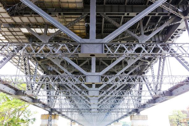 在下面,留白,管道,悉尼港桥,背景,梁,重的,水平画幅,无人,巨大的