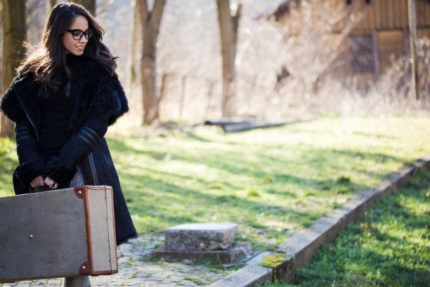 手提箱,旅行者,自然美,伦敦城,乘客,行李,等,背包,车站,古老的