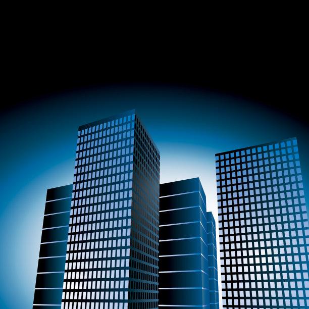 城市,窗户,无人,蓝色,绘画插图,豪宅,抽象,纽约州,建筑外部,户外