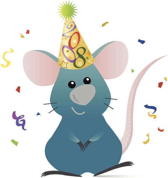鼠年,垂直画幅,幸福,小的,可爱的,快乐,老鼠,无人,绘画插图,符号