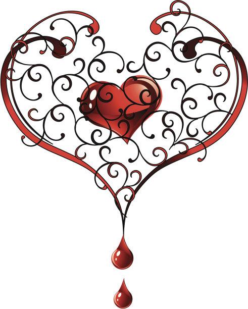 情人节,心型,华丽的,周年纪念,请柬,圣诞装饰物,浪漫,二月,装饰物,艺术品