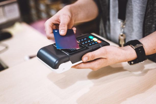 卡片,智能手表,收银员,有序,部分,舒服,技术,现代,商业金融和工业,拿着