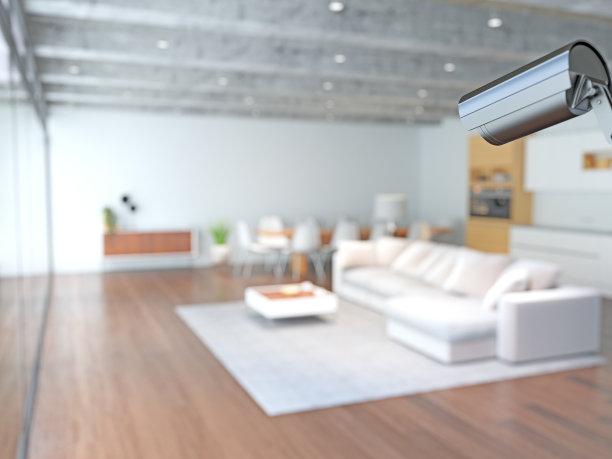 监视器,起居室,中央电视台,座位,水平画幅,无人,火警,安全,现代,沙发