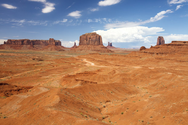 梅里克孤峰群,纪念碑山谷,天空,水平画幅,沙子,无人,偏远的,户外,干的,美洲