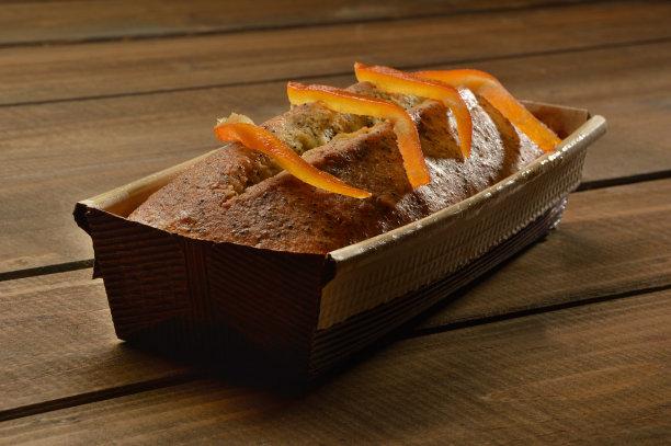 蛋糕,橙子,肉桂,木制,褐色,水平画幅,素食,烘焙糕点,特写,甜点心