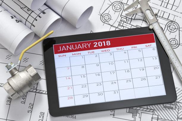 日历,平板电脑,绘画插图,水平画幅,无人,电子记事本,工厂,时间,建筑业,工业