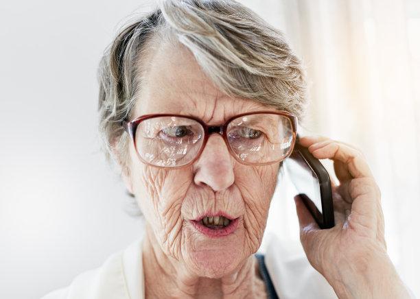 老年女人,手机,衰老过程,古老的,仅成年人,眼镜,现代,技术,坏消息,年龄