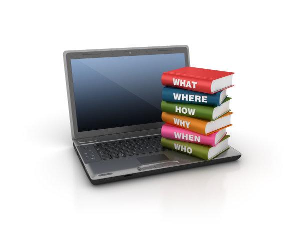书,计算机,笔记本电脑,三维图形,问号,计算机制图,计算机图形学,it技术支持,知识,云计算