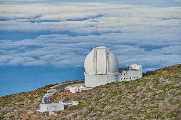 天文台,帕尔马,西班牙,天空,水平画幅,高视角,云,天体物理学,无人,大西洋