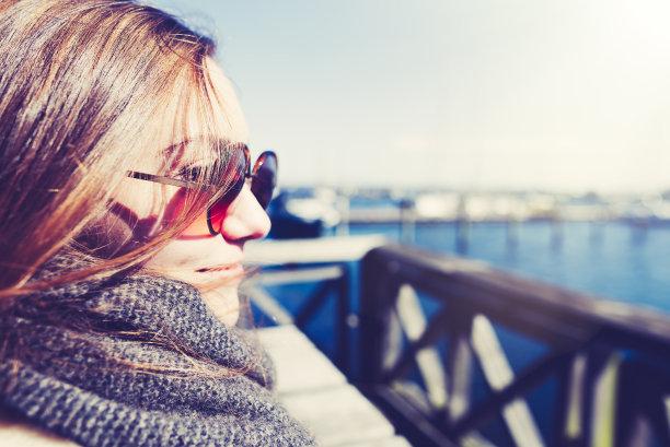 日光,美,留白,休闲活动,水平画幅,海港,美人,皮革,周末活动,皮茄克