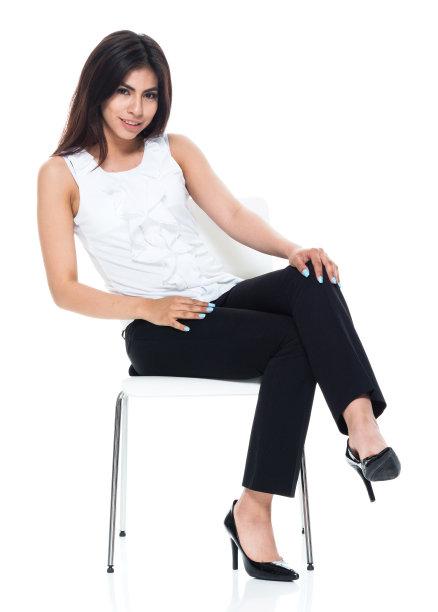 女商人,看,垂直画幅,美,拉美人和西班牙裔人,座位,椅子,美人,经理