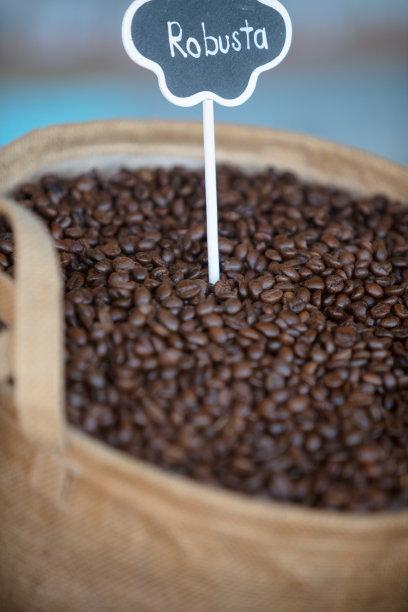 咖啡豆,垂直画幅,烤咖啡豆,咖啡店,芳香的,阿拉比卡咖啡,标签,乡村风格,饮料,英语