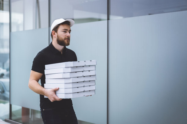 比萨饼,有序,部分,商业金融和工业,顾客,办公室,以客户为中心,幸福,晚餐,女商人