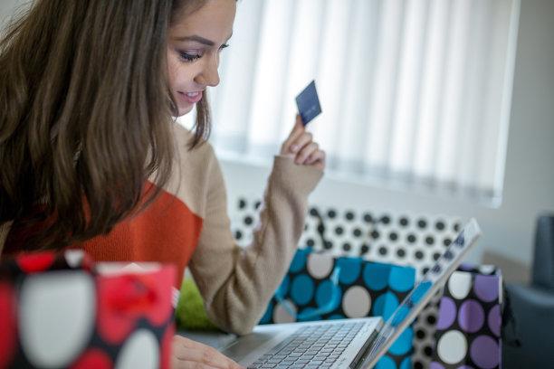 家庭生活,在家购物,女人,美,笔记本电脑,休闲活动,水平画幅,顾客,美人,商店