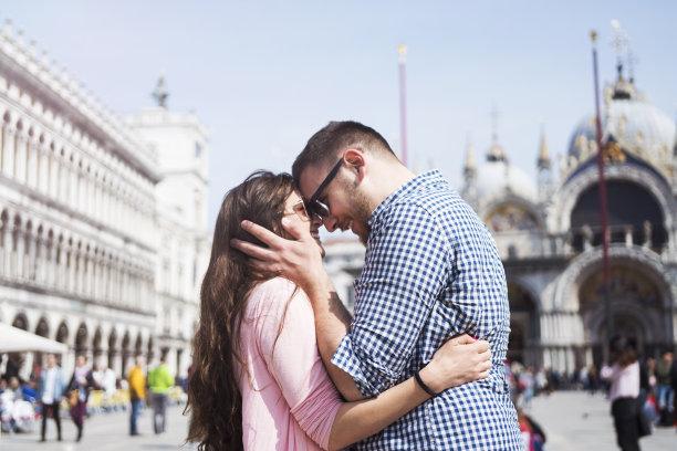 异性恋,威尼斯,水,休闲活动,运河,女朋友,旅行者,仅成年人,青年人,国际著名景点