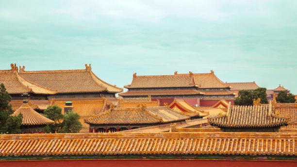 故宫,旅游目的地,水平画幅,建筑,无人,禁止的,建筑外部,户外,房屋,城市